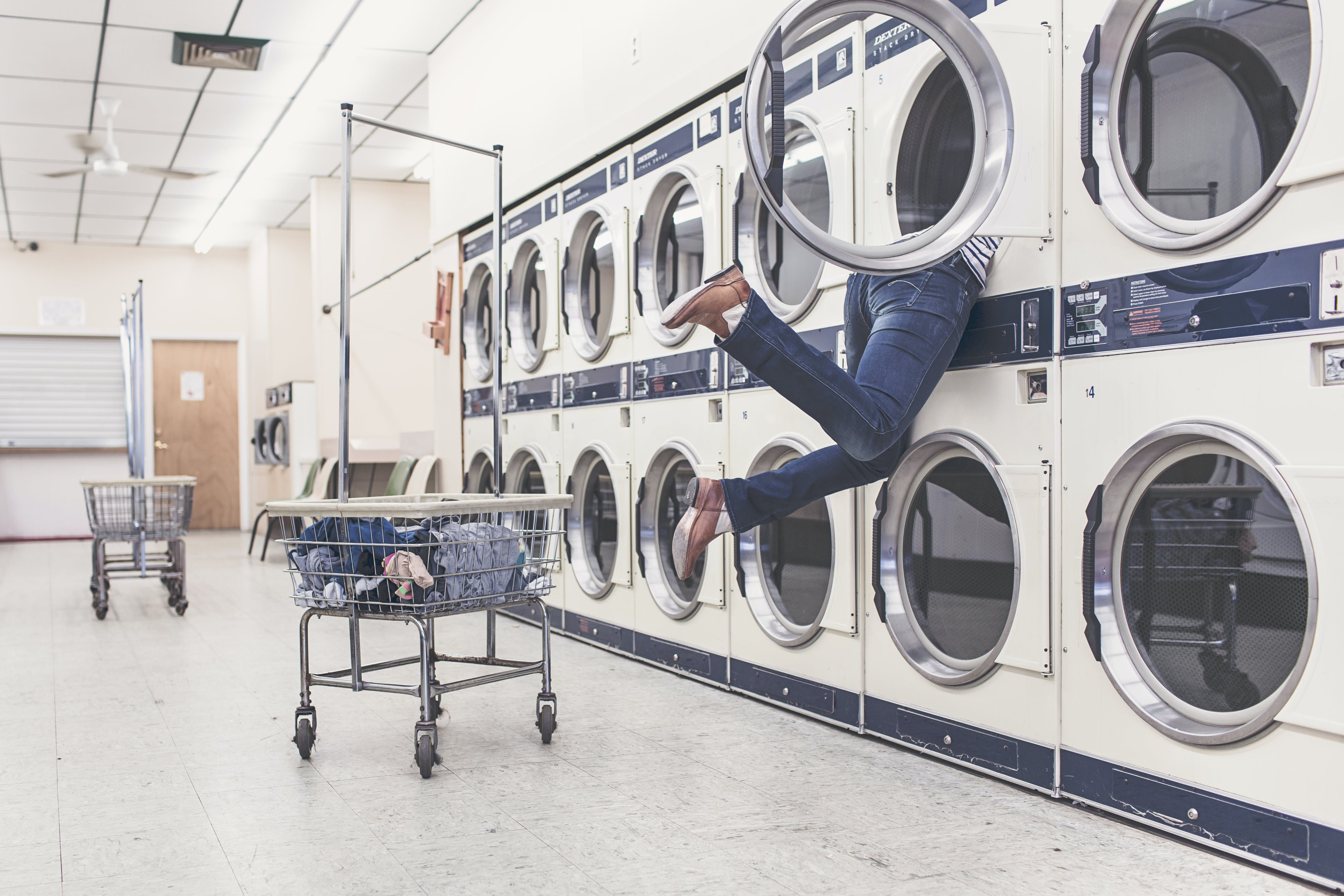 man stuck in washing machine