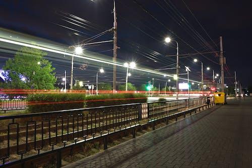 Бесплатное стоковое фото с городская фотография, дерево, дорога, красный