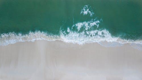 DJI, 대지 마빅 프로, 모래, 물의 무료 스톡 사진