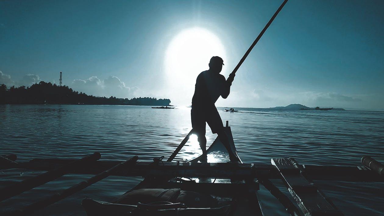 barcă, mare, ocean