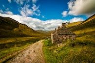 road, landscape, clouds