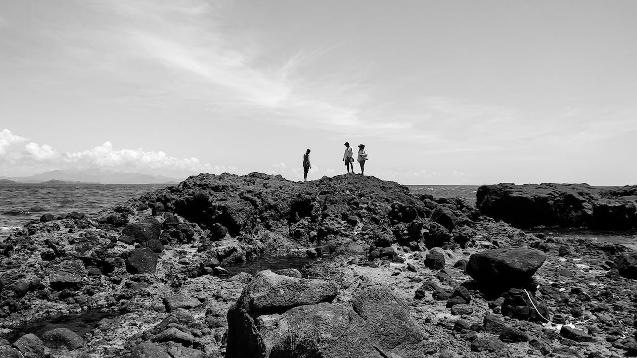 alicerce, base rochosa, férias