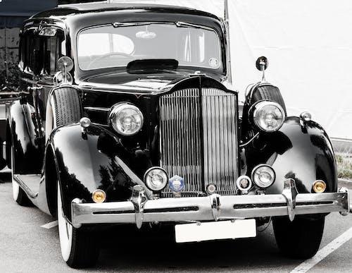 Δωρεάν στοκ φωτογραφιών με vintage, ασπρόμαυρο, αυτοκίνηση, αυτοκίνητο