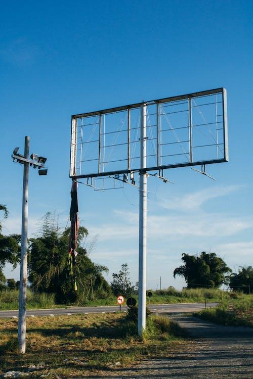 Gray Metal Utility Pole