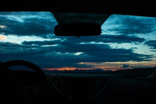 Foto stok gratis awan, Fajar, gelap, hitam