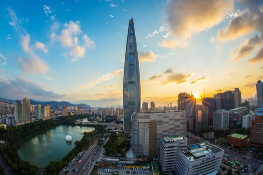 Free stock photo of city, sunset, skyline, buildings