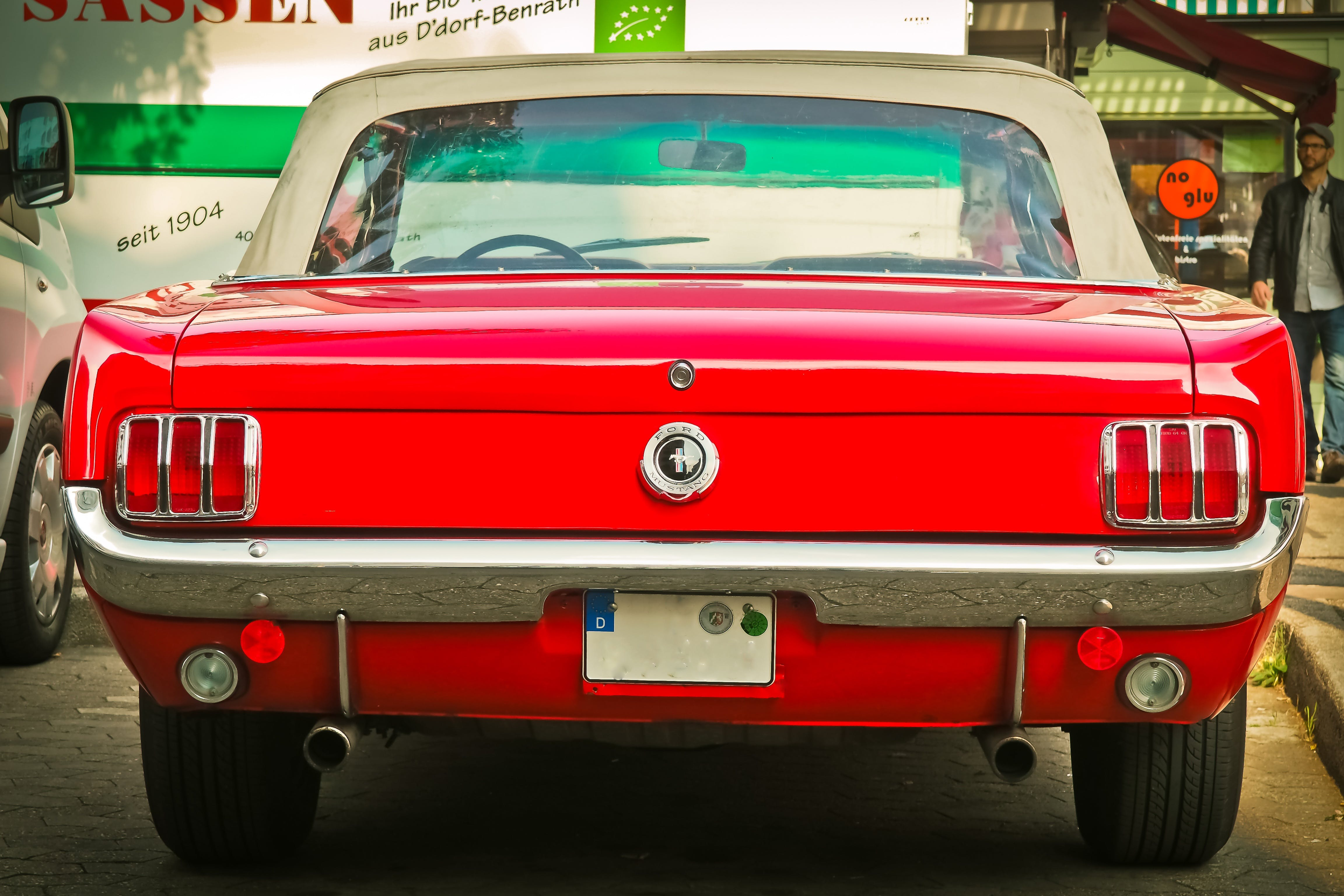 Close-up Photography of Red Vehicle