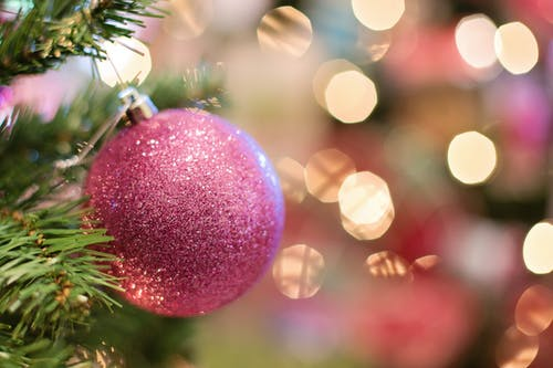 Selective Focus Photography of Pink Bauble