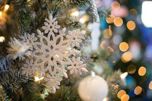 Selective Focus Photography of White Snowflake Decor