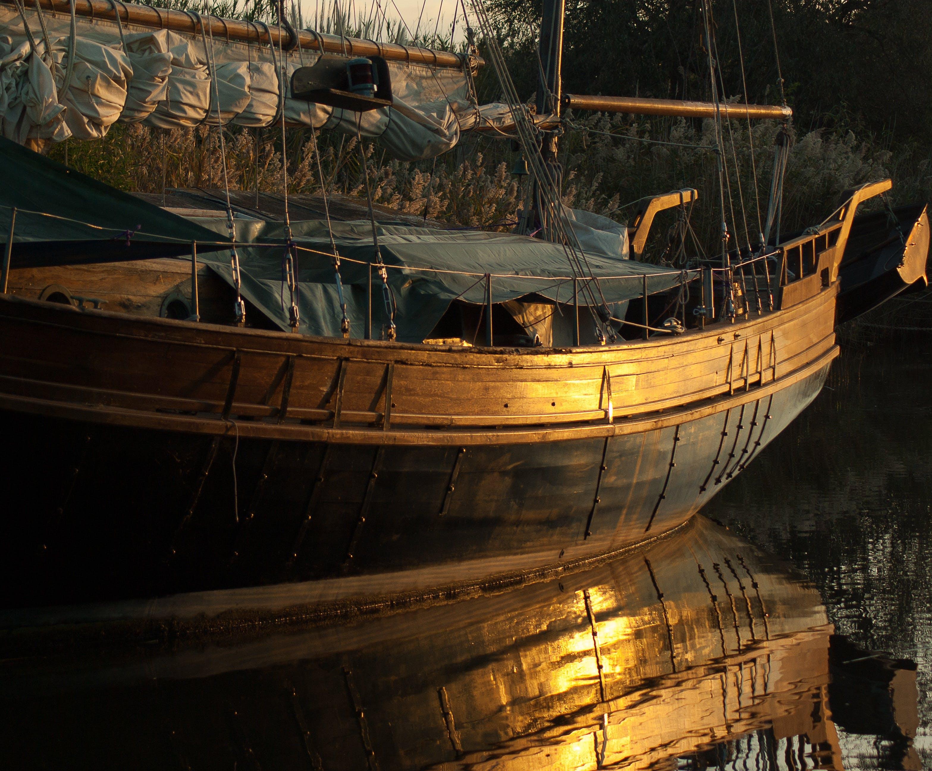 boat, reflection, sailboat