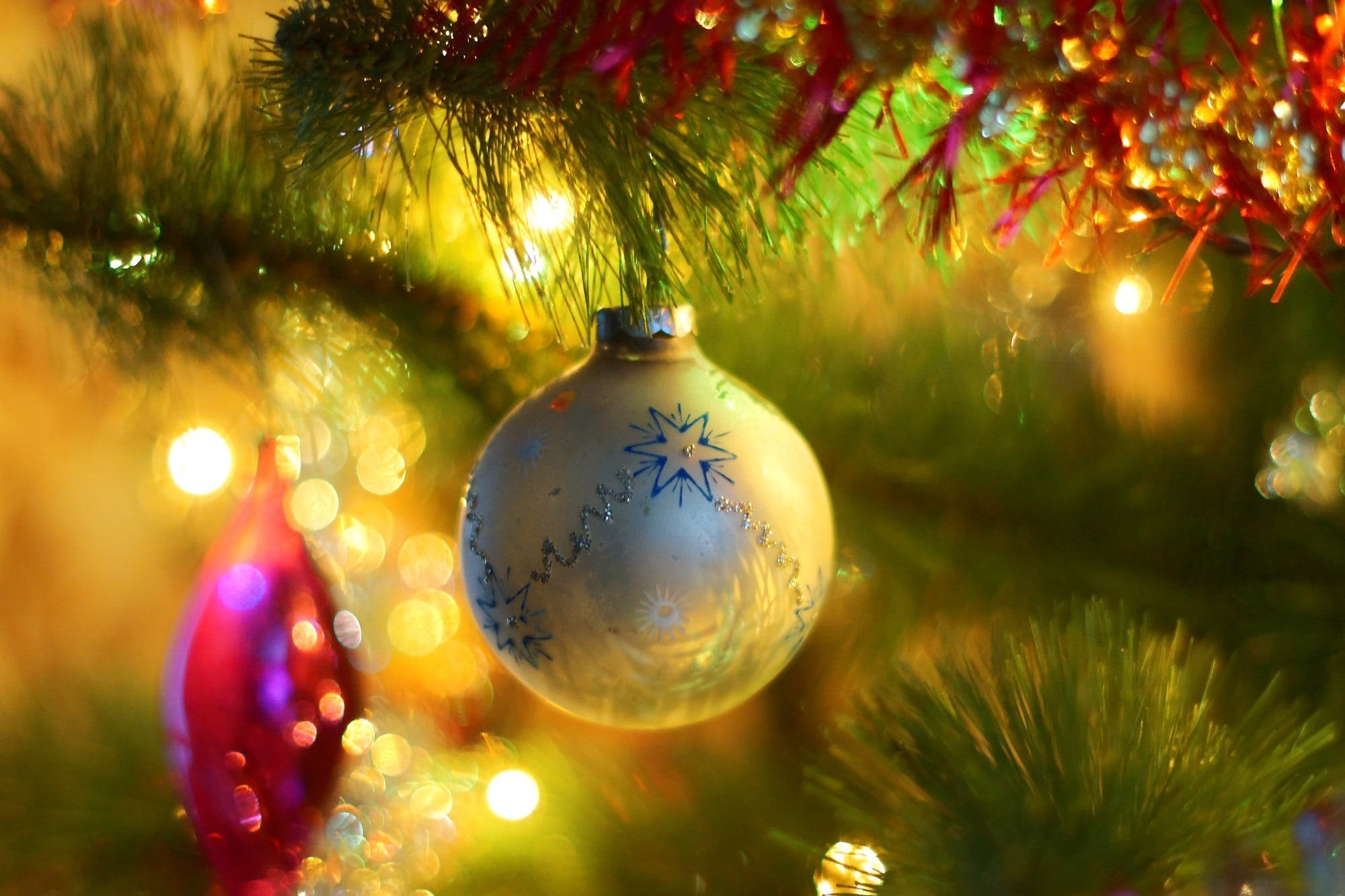 Selective Photography of Christmas Bauble