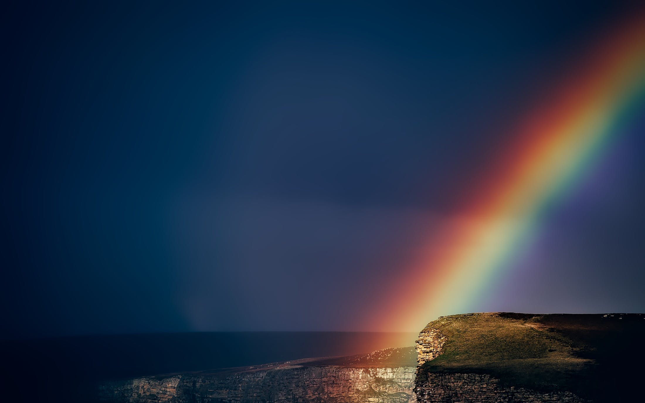 Rainbow After Sunset