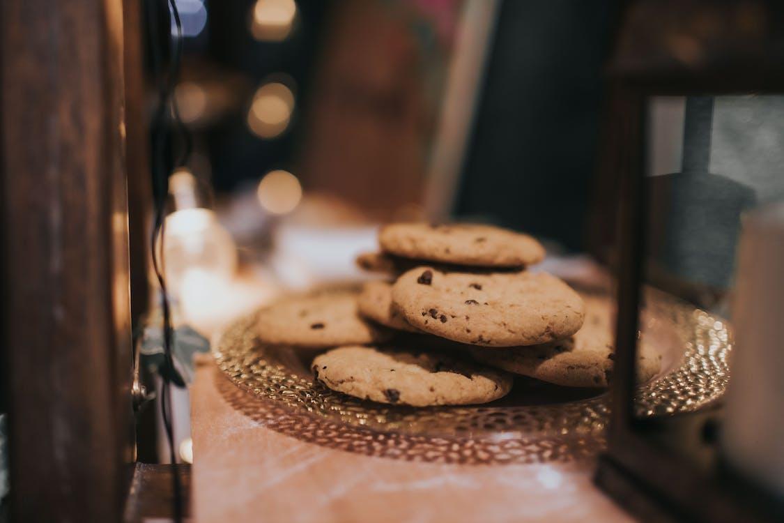biscotti, biscotti con gocce di cioccolato, cibo