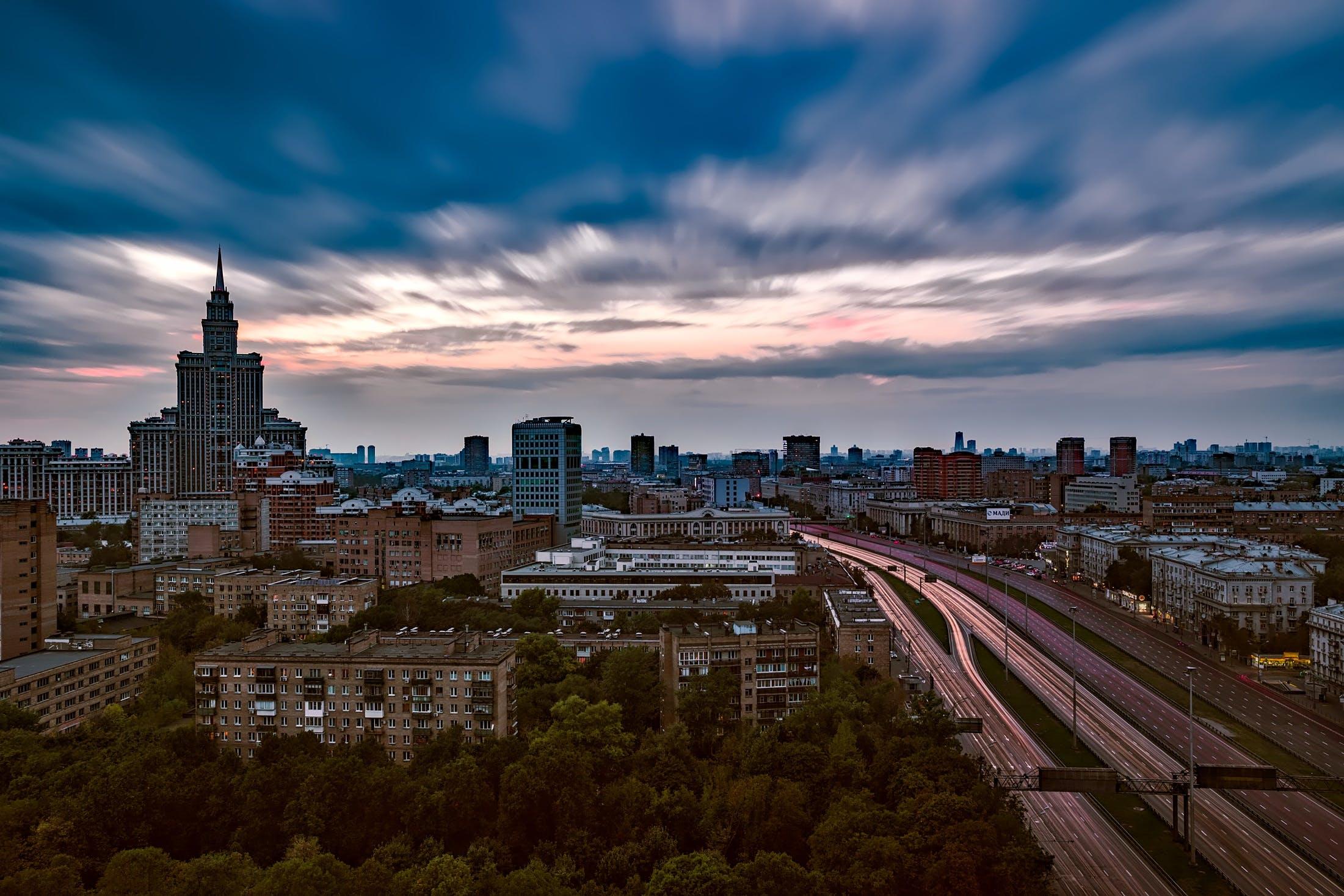 Free stock photo of city, streets, sky, sunset