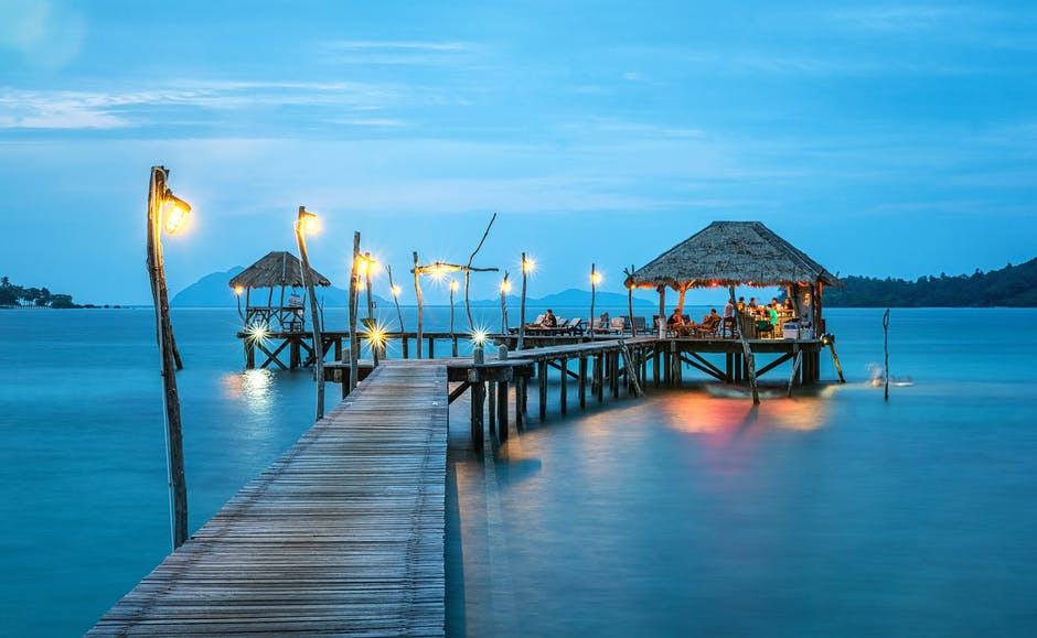 beach, bungalow, caribbean