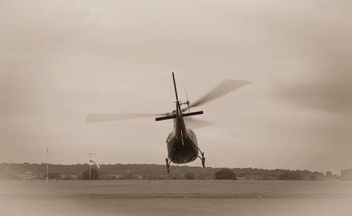 Foto d'estoc gratuïta de aviació, hèlix, sèpia, vol