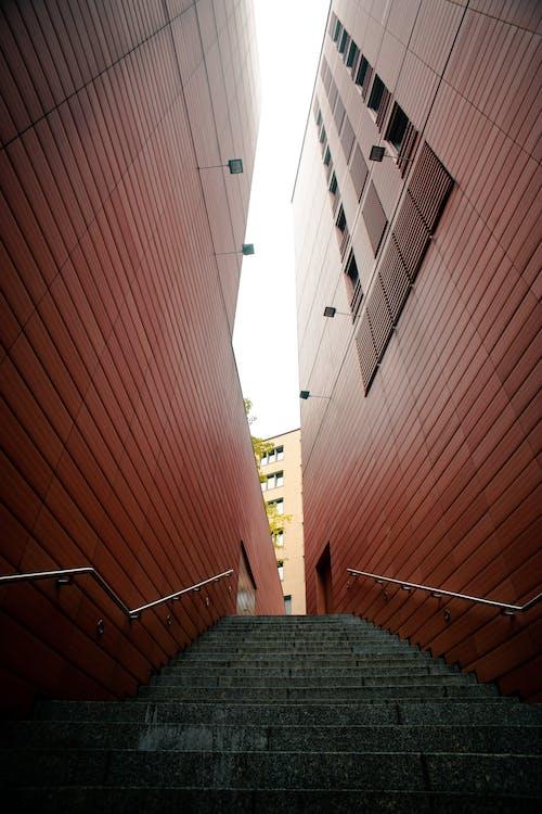 Gratis stockfoto met architectuur, gebouw, gezichtspunt, trap
