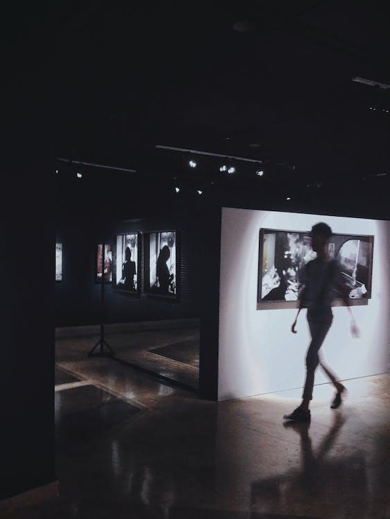 виставка, внутрішній, всередині