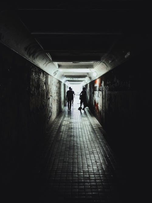 人, 剪影, 地下, 地鐵 的 免費圖庫相片