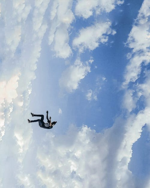 Person Performing Sky Jumping