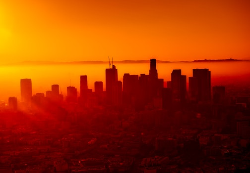 Free stock photo of light, city, dawn, sunset