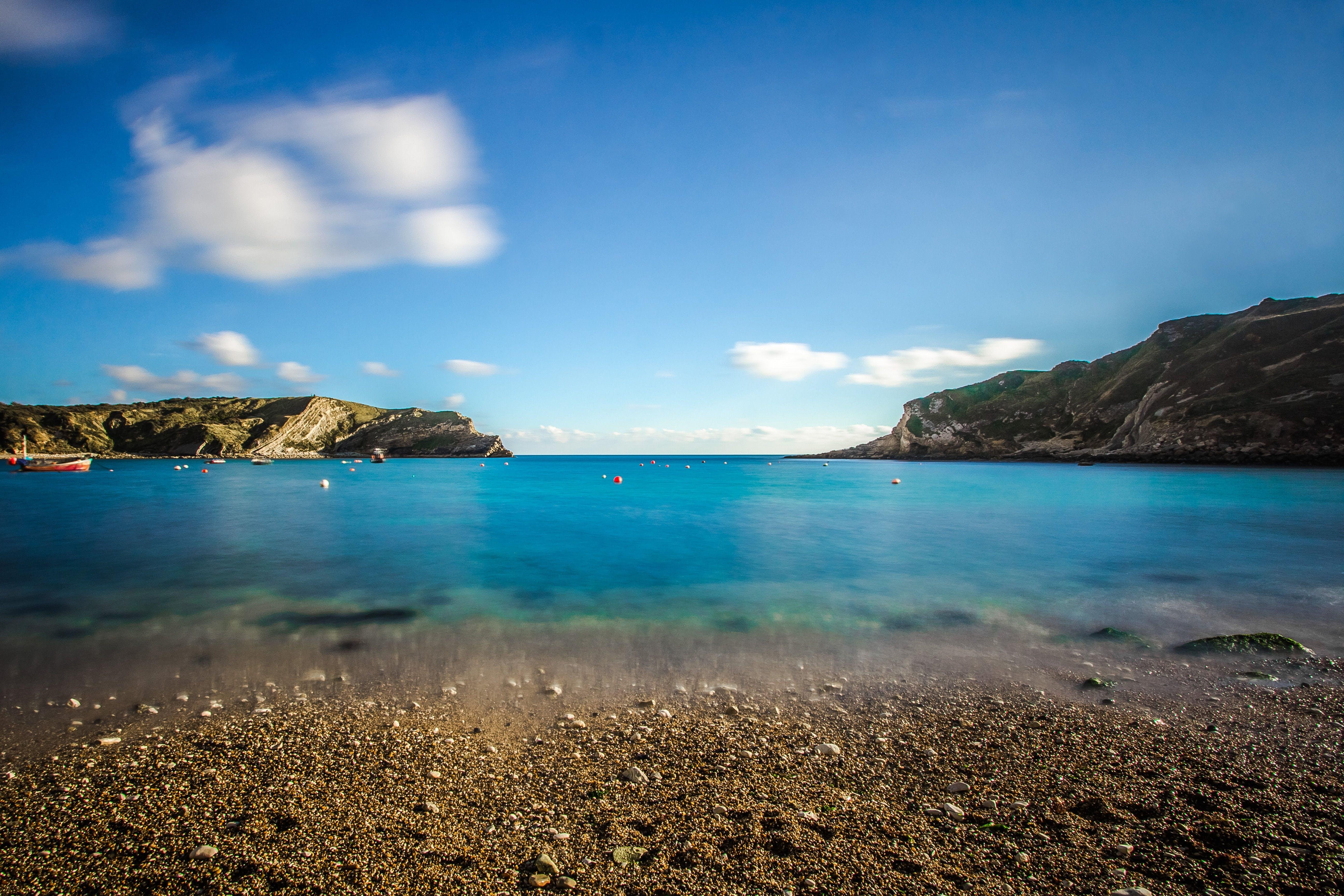 Free stock photo of beach, ocean, bay, england