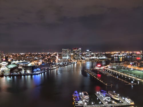 Free stock photo of baltimore, city, harbor, lights