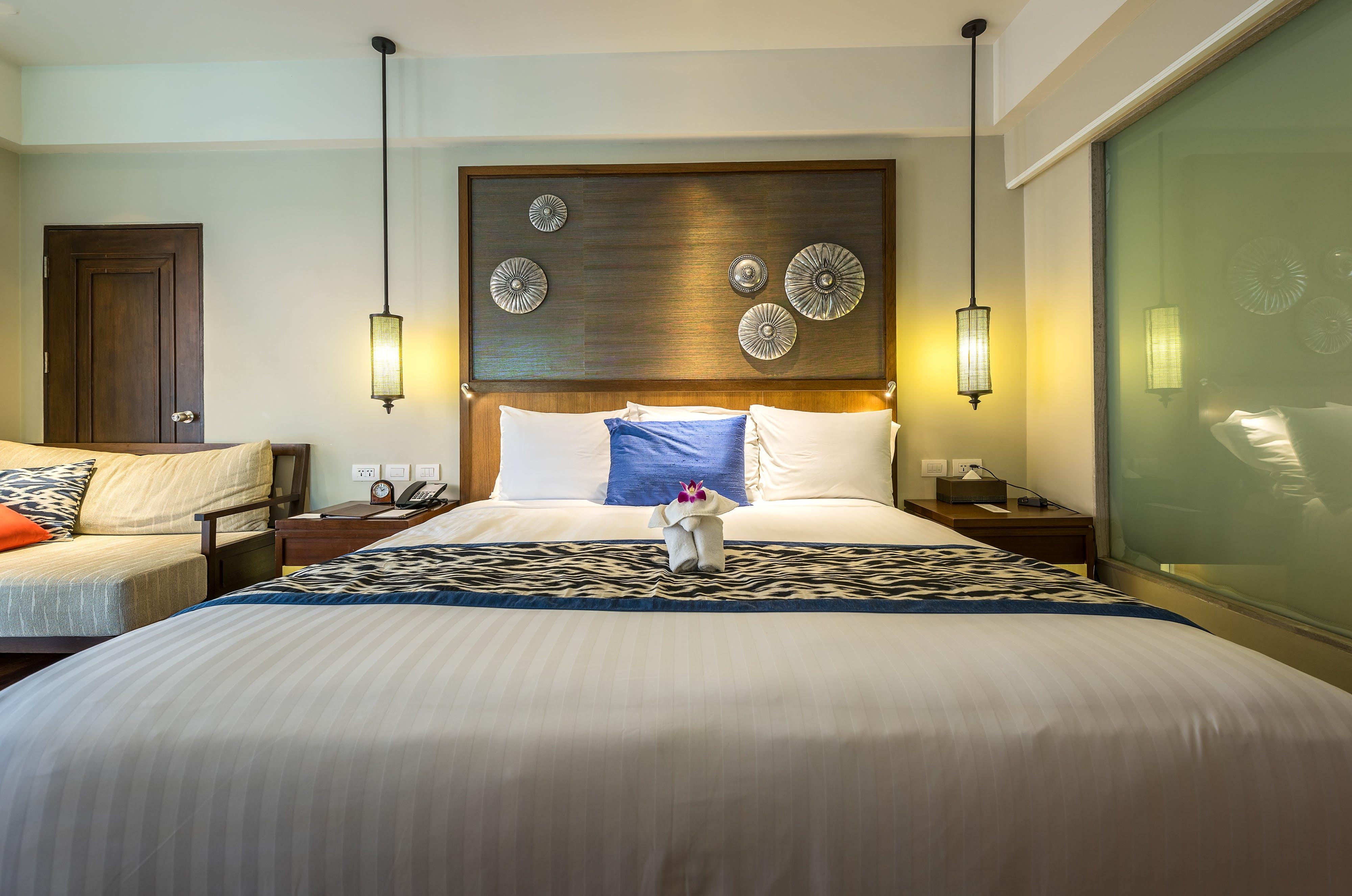 Kostenloses Stock Foto zu lampen, bett, schlafzimmer, luxus
