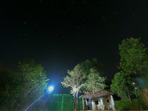 城市, 晚上, 村莊, 流星 的 免費圖庫相片