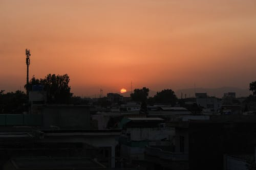 Kostenloses Stock Foto zu abend, abendsonne, sonnenuntergang, stadtblick
