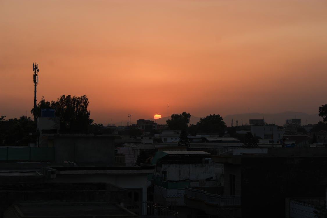 malam, malam hari, matahari sore