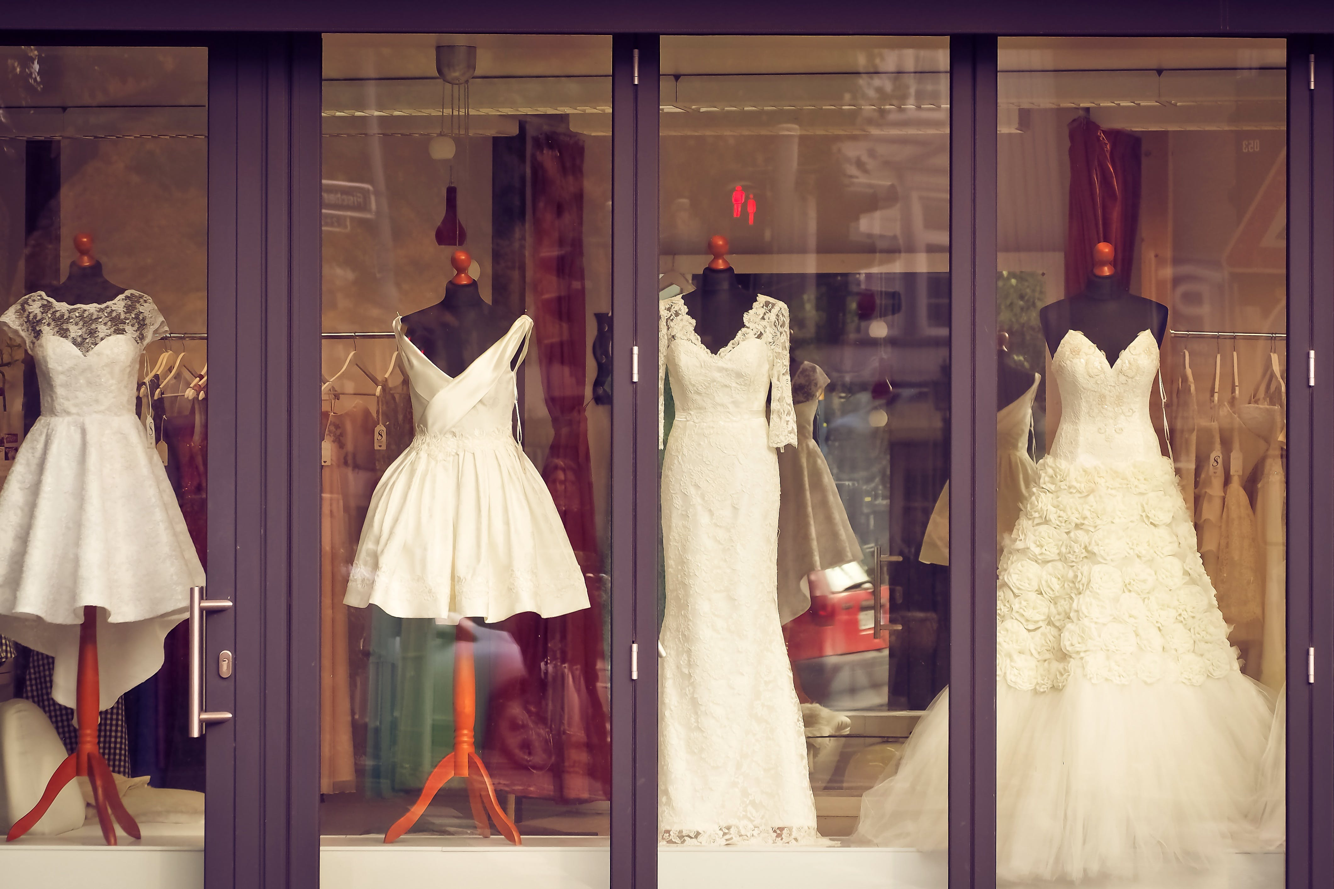 Four White Wedding Dresses