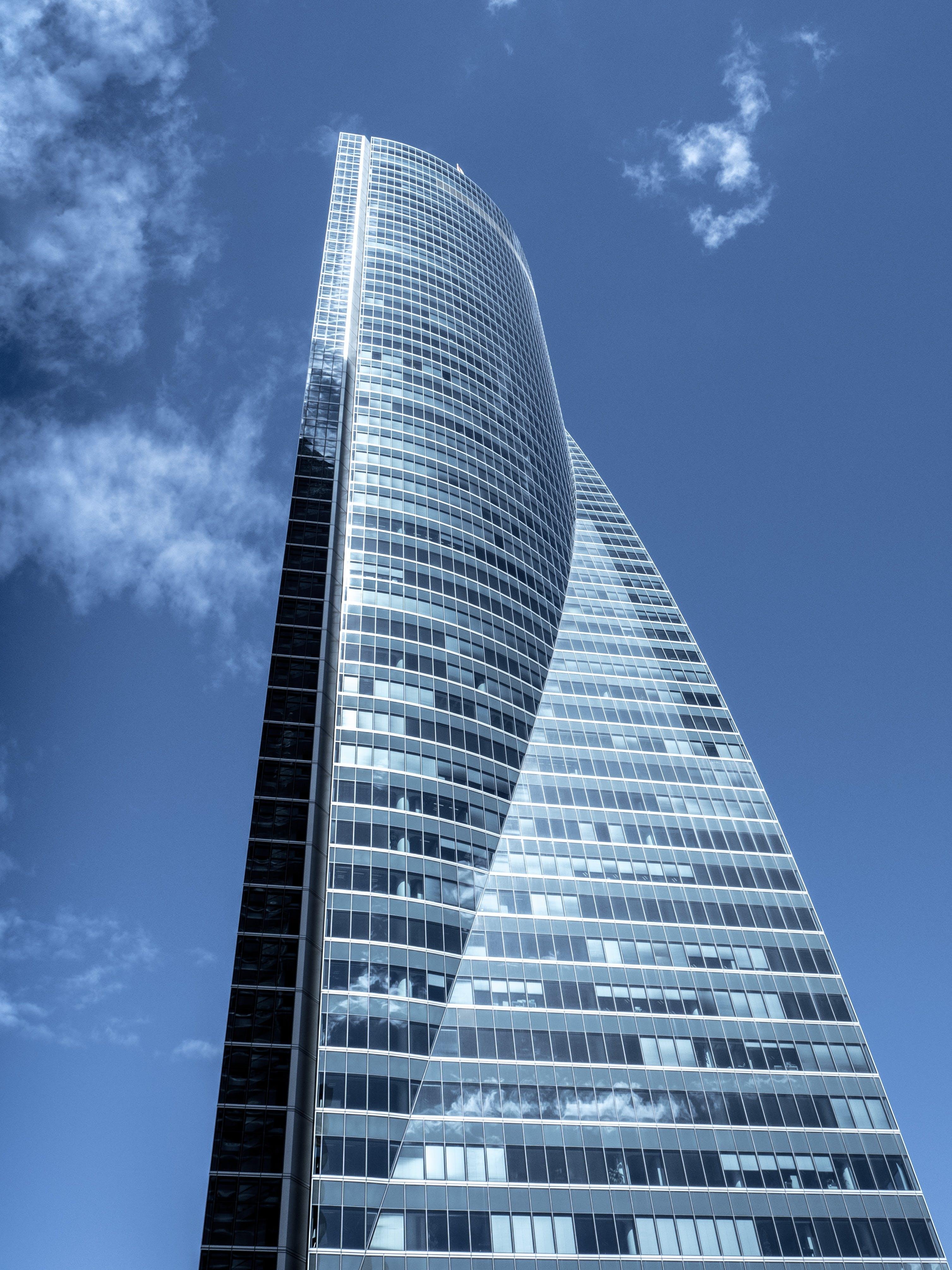 Kostenloses Stock Foto zu glas, architektur, hochhaus, perspektive