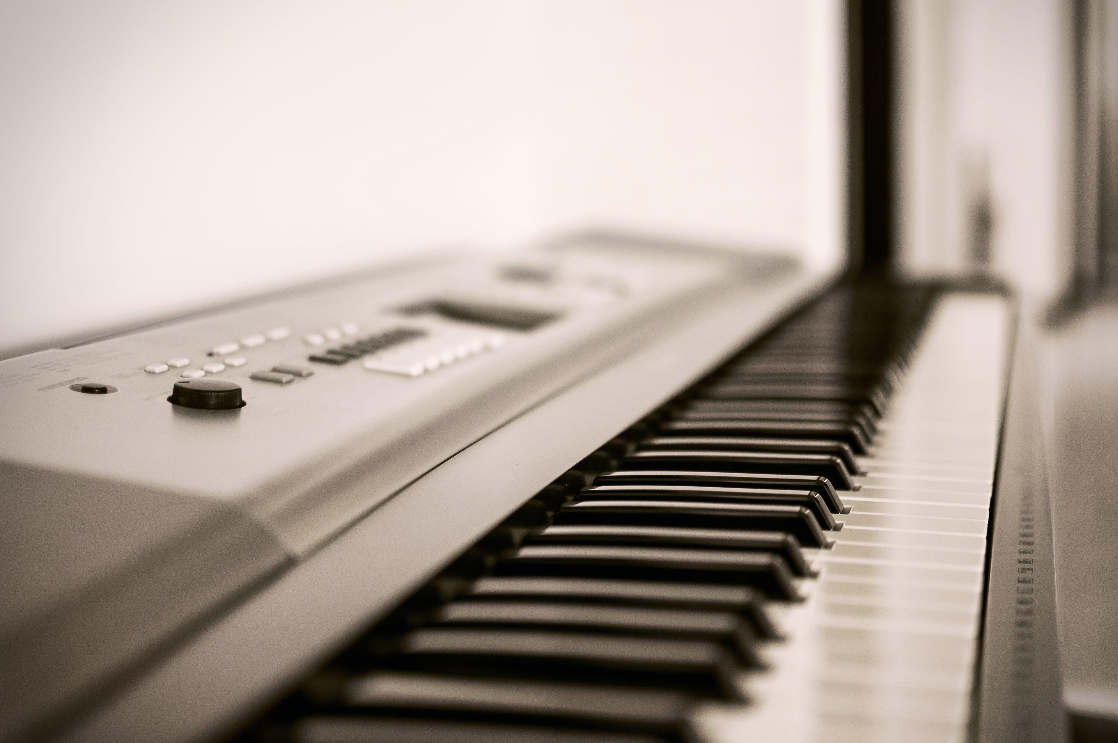Free stock photo of music, piano, keyboard, white