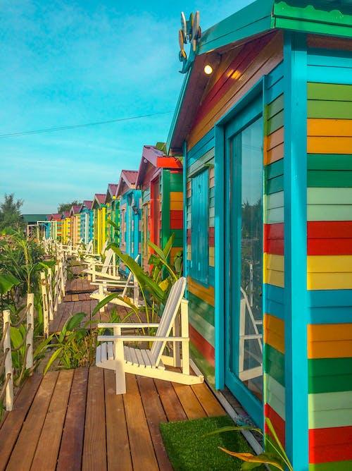 Fotos de stock gratuitas de al aire libre, arquitectura, azul, brillante