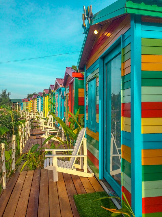 Multicolored Wooden Houses
