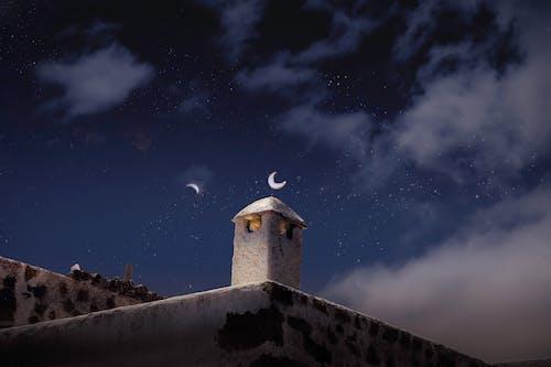 Foto stok gratis artis, cerobong asap, malam hari