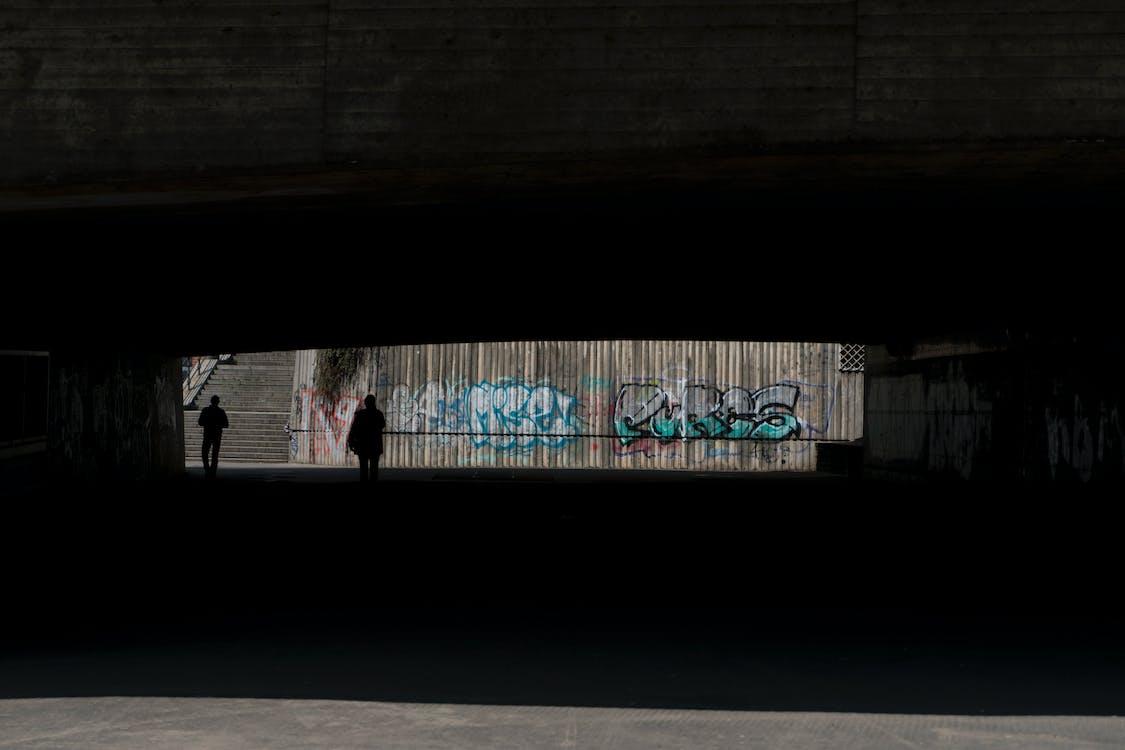 escuro, graffiti, grafite