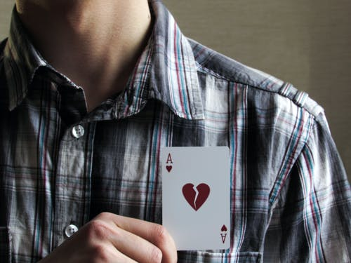Free stock photo of ace, Ace of Clubs, broken, card