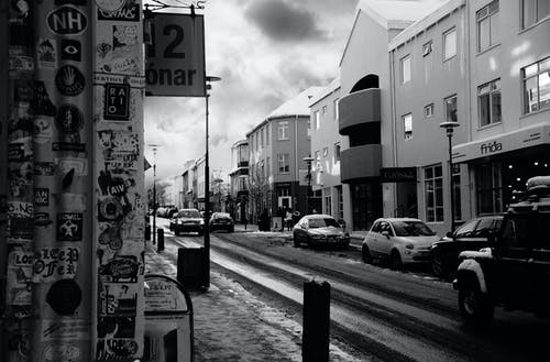 シティ, 通り, 雪の無料の写真素材
