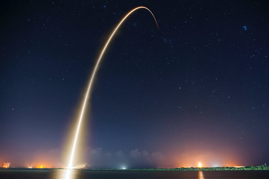 spacex, вселенная, длинная экспозиция