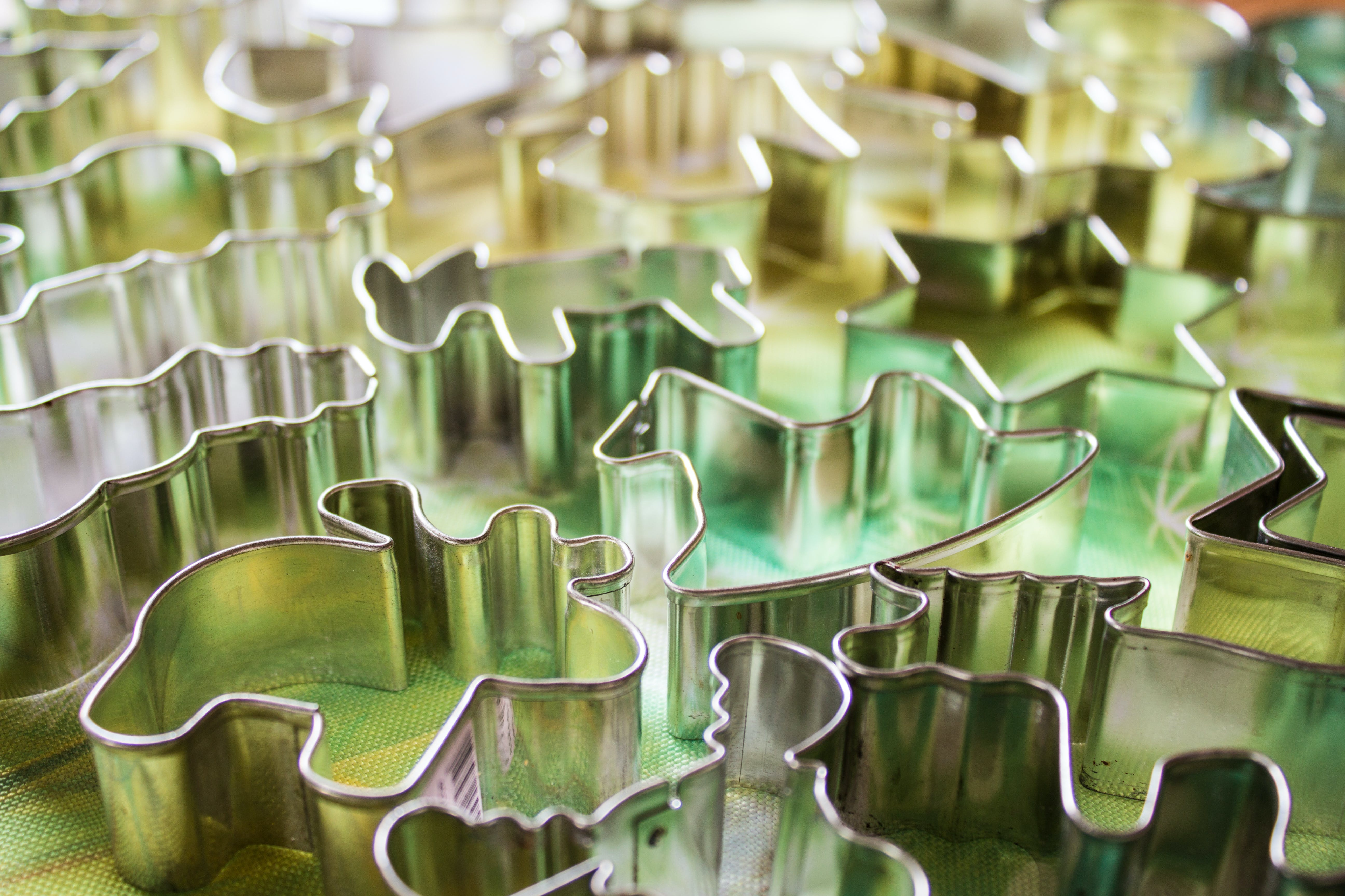 Pile Assorted-shape Cookie Cutters