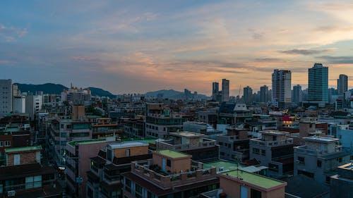 คลังภาพถ่ายฟรี ของ กรุงโซลประเทศเกาหลีใต้, การท่องเที่ยว, ตะวันลับฟ้า, ตึก