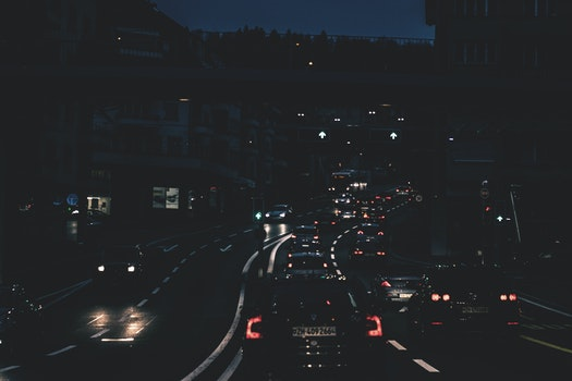 Free stock photo of light, city, cars, road