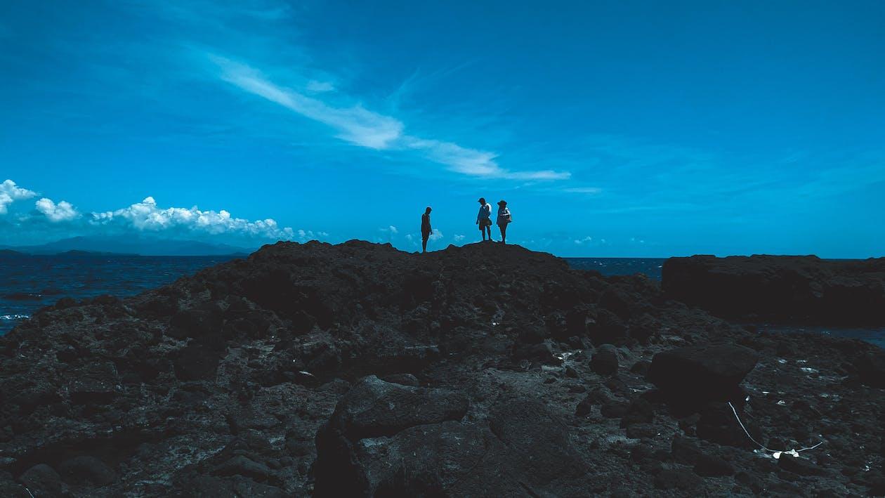 bergformasjon, grunnfjell, hav
