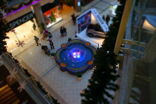 Aerial Photo of Mall Interior