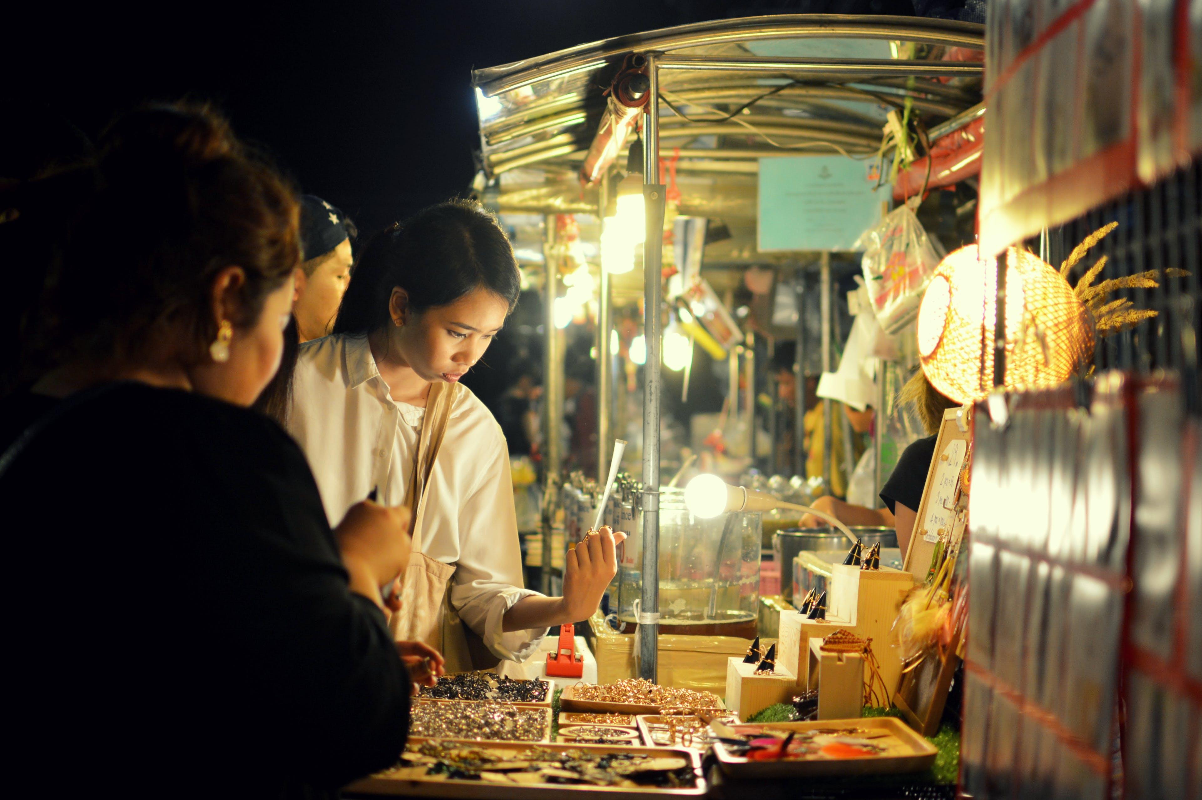 Free stock photo of Bangkok, night market, thailand