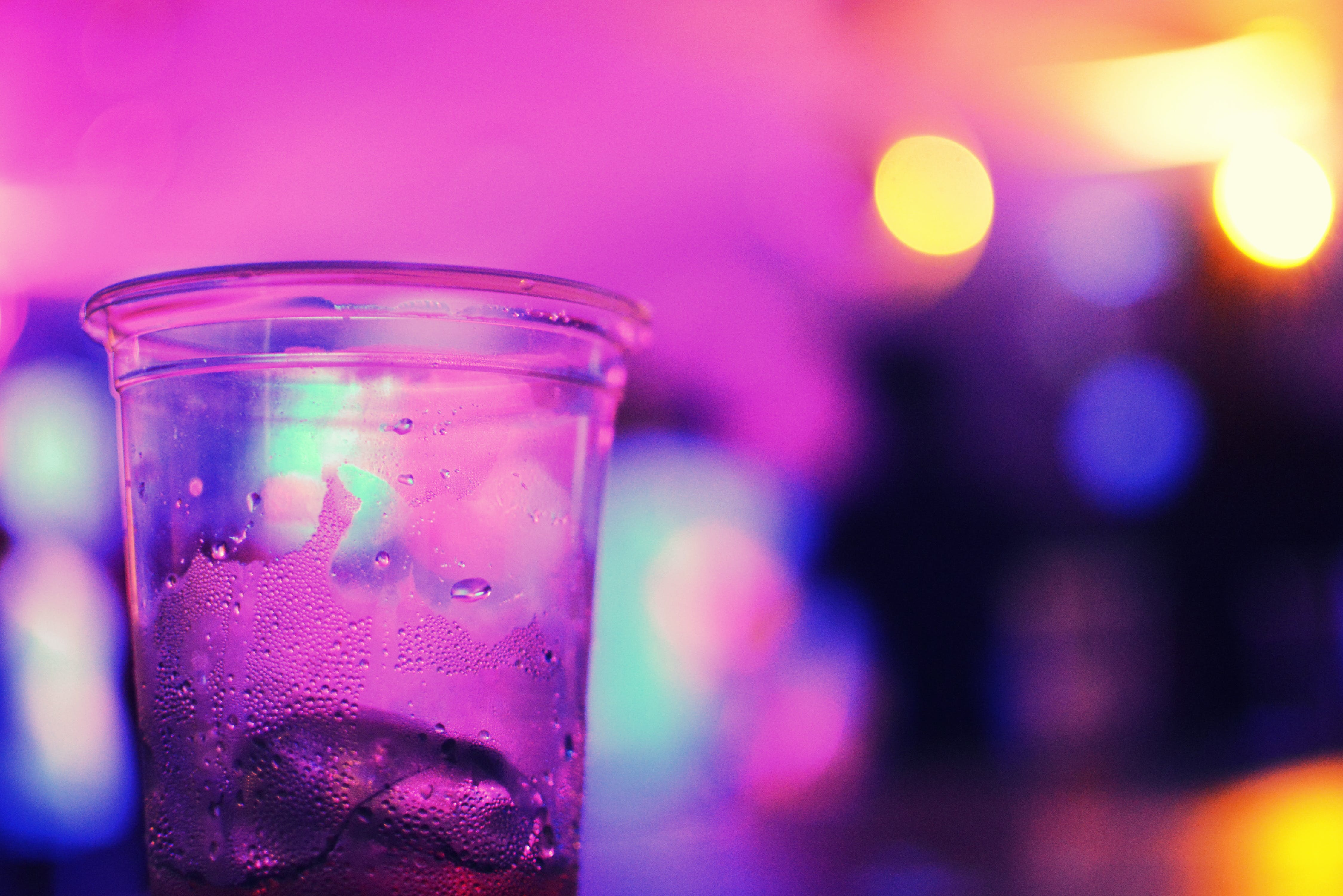 Clear Plastic Drinking Cup