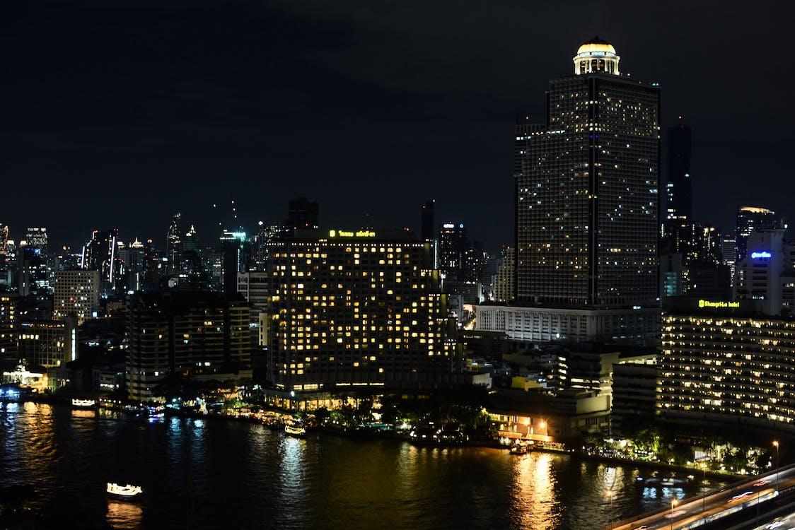 aften, arkitektur, bro