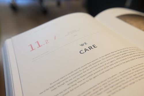We Care Book Page